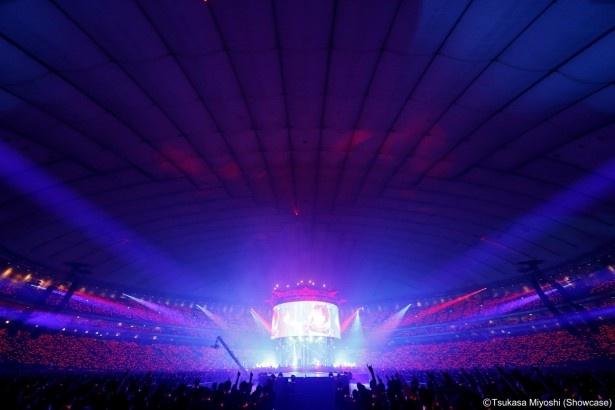 9月20日の東京ドーム公演の模様。 5万5000人が東京ドームを埋め尽くした