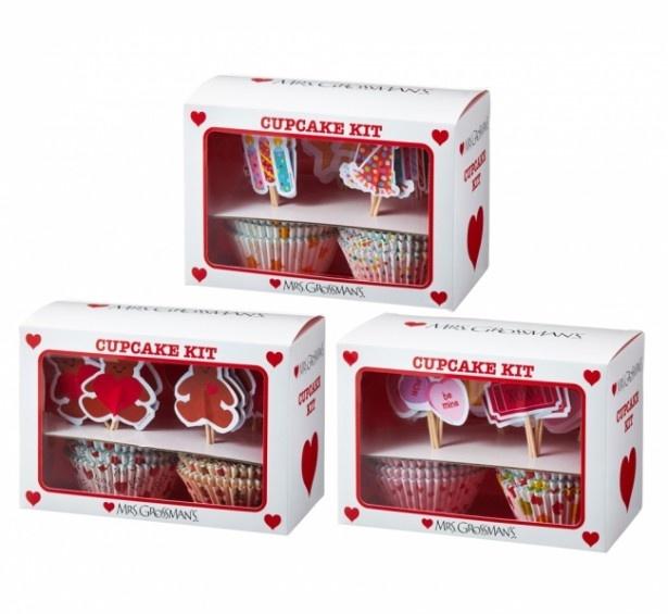 バレンタインの手作りスイーツにもおすすめな「カップケーキ キット(全3種)」(税抜920円)