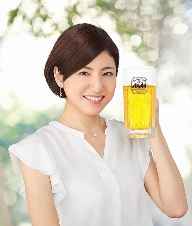 2017年のアサヒビールイメージガールの田口千晶さん