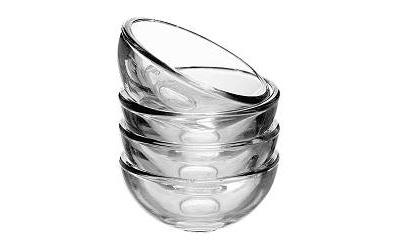 ボウル クリアガラス 4ピース(499円)