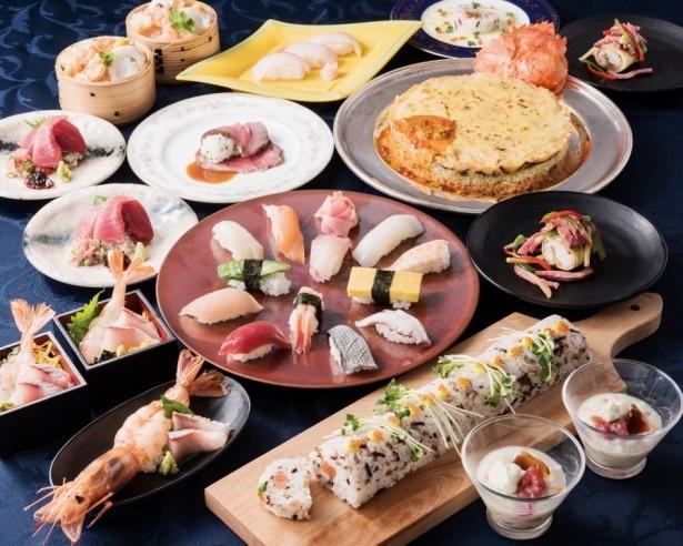 バイキングレストラン「オリンピア」で「壽司!鮓!SUSHI!」フェアが開催中