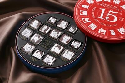 アニバーサリーイヤーを記念して作ったセレクションボックス「Les Gens du Chocolat(ショコラな人々)」(9180円)