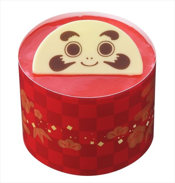 「だるまさんのケーキ」新年のツキを招く、縁起スイーツ(540円)