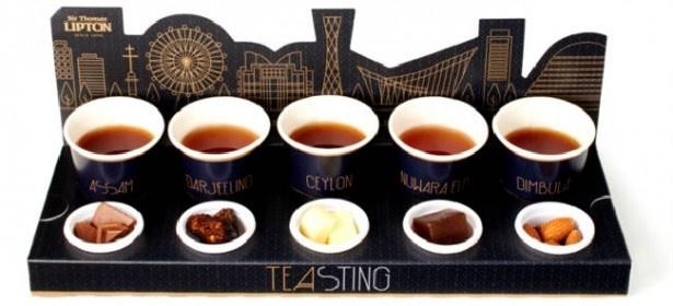 【写真を見る】5種類の利き紅茶ができる「TEASTING(ティースティング)」