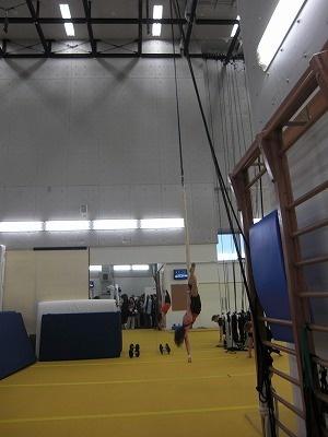 天井が高いトレーニングルーム