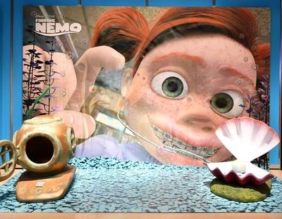 ダーラの水槽のシーンを再現した展示