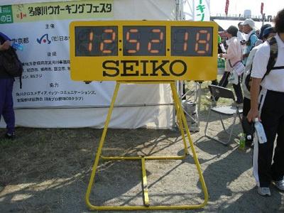 ゴール!記者は12キロ完歩。ただただ、うれしい