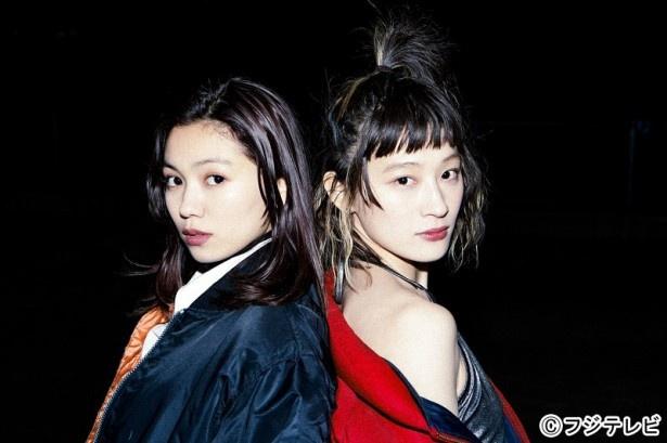 12月22日に放送される「トーキョー・ミッドナイト・ラン」でW主演を務める二階堂ふみとコムアイ(水曜日のカンパネラ)