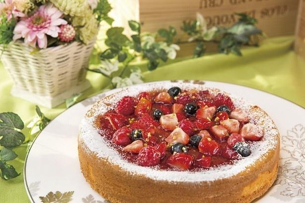 「ストロベリーチーズケーキ」