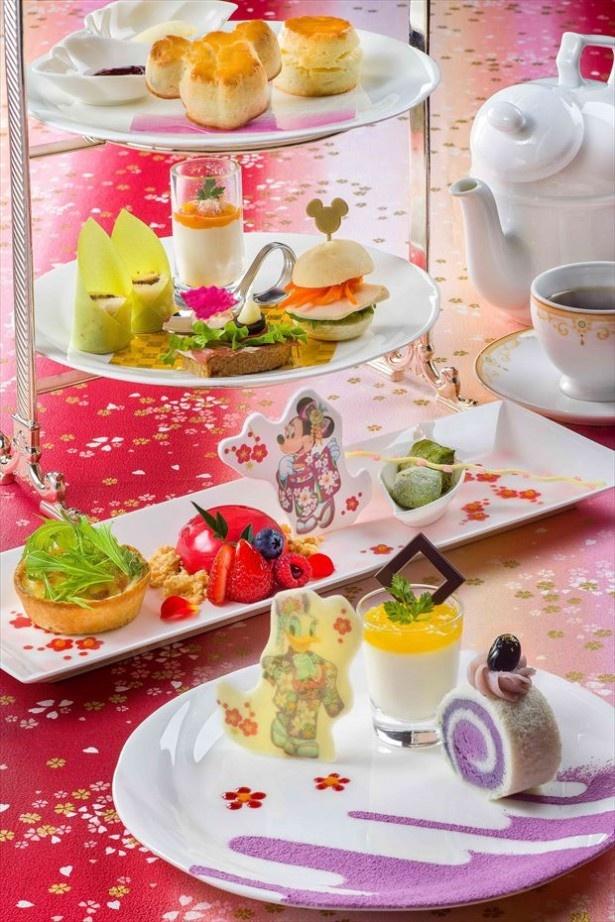 東京ディズニーランドホテル「ドリーマーズ・ラウンジ」の「アフタヌーンティーセット」(3400円)