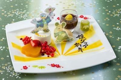 東京ディズニーランドホテル「ドリーマーズ・ラウンジ」の「デザートメドレー」(1650円)