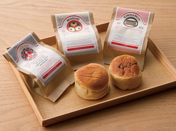 丹波大納言こしあんと栗を丸ごと1個入れた一番人気の「WAGURI」(左)と、酒種黒パンにシナモンあんの「CINNAMON」(右)/SIZUYAPAN