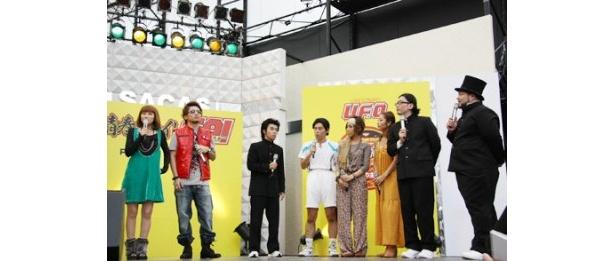 「青春ファイトGP(グランプリ)!」には多くのサポーターがゲストとして登場