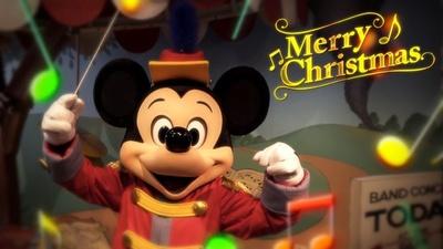 ミッキーマウスがパークの音を集めて、クリスマスソングをプレゼント