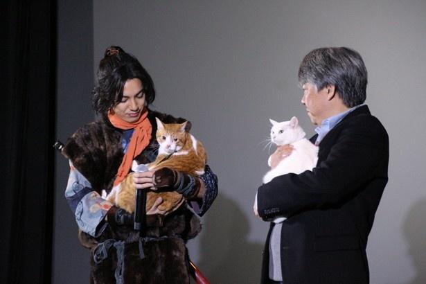 金時の魅力について語る大野、渡辺監督(写真左から)