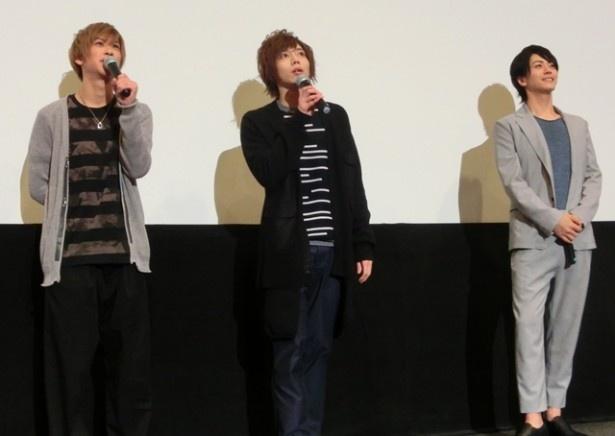 会見中は、廣瀬、染谷、赤澤が互いのコメントにツッコミ合うなど仲の良さが表れた