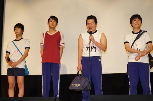 オーディションで選ばれた主人公・タカシ役の犬飼直紀(右端)ら