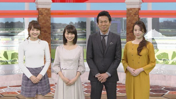 「BSイレブン競馬中継」に出演が決まった高田秋、高見侑里、東幹久、宮島咲良