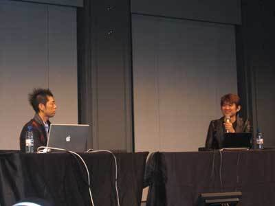 左が佐藤可士和氏、右が水口哲也氏