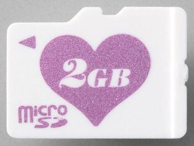 今年3月に発売された「Heart」Ver.のmicroSDカードはこちら