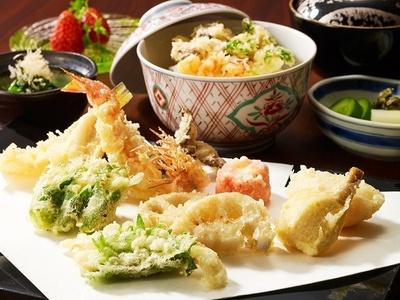「天ぷら 天芝」の「天芝ランチ」(3900円別途サービス料10%)