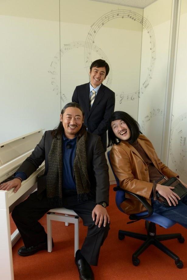 テレ玉で冠番組がスタートするロバート(左から)秋山竜次、山本博、馬場裕之