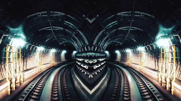 地下鉄の運転席から見える風景を早回しで描き出した斬新な映像にも注目!