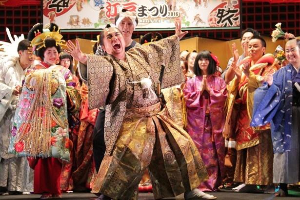江戸を舞台にした喜劇「江戸小路人情喜劇」は、3日間開催