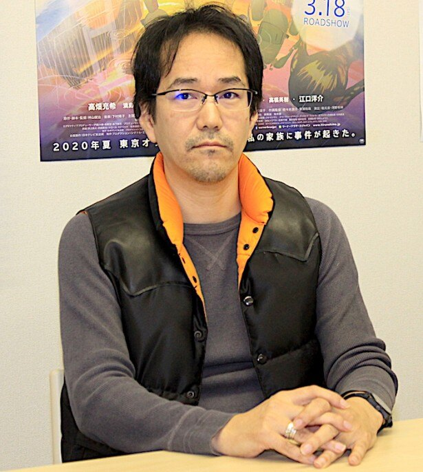 インタビューに答えてくれた神山健治監督