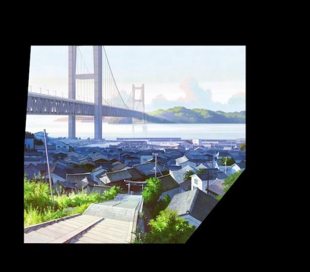 瀬戸内海が広がり、瀬戸大橋が見える。どこか懐かしさの漂う風景だ
