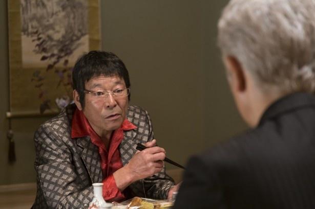 「株の仕手戦編」で、秀峰創業グループのドンで仕手戦の本尊・梅谷哲役で登場するダンカン