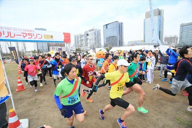個人で参加する個人ランだけでなく、みんなで参加するリレーマラソンも!