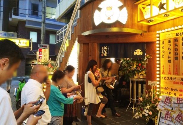 【画像を見る】「とり家 ゑび寿」他店舗オープン時の賑わい