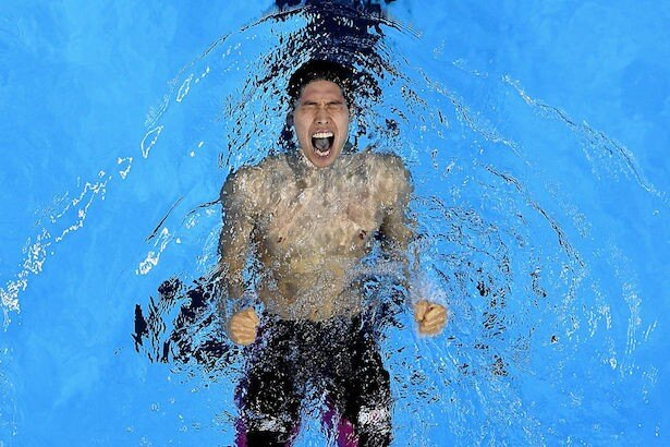 400m男子自由形決勝で優勝した萩野公介