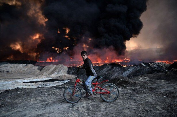ISISからイラク・モスルを奪還するため繰り広げられる統合戦力軍による戦闘