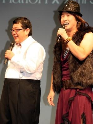 ゲストで登場した「Wエンジン」の2人。鈴木亜美ちゃんを目の前にド緊張の2人