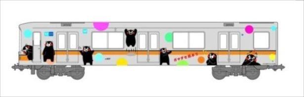 銀座線において、2017年1月1日(日)から2月24日(金)の期間限定で「くまモンラッピング電車」が運行する