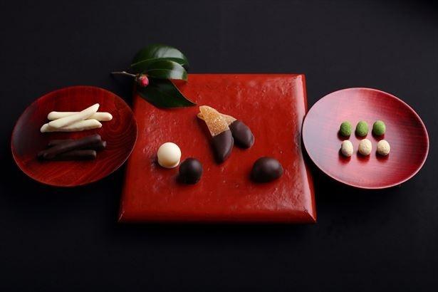 和の素材をチョコレートで包んだ「心よせ」シリーズがバレンタイン限定で登場