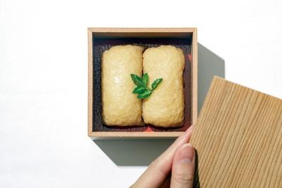 日本料理 海木の「だしいなり」(2個648円)