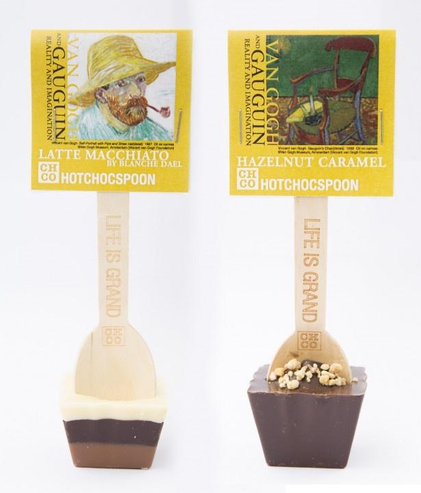 オランダ・マーストリヒトにあるショコラトリー「チョコレートカンパニー」とのコラボ。ホットチョコスプーン(1本864円)は限定パッケージ