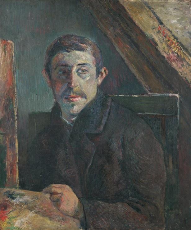 【写真を見る】ポール・ゴーギャン「自画像」1885年前半 油彩・カンヴァス キンベル美術館  36歳当時の自画像。パリで吸収した印象派の表現を用いている