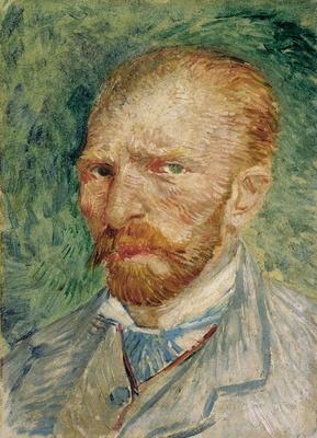フィンセント・ファン・ゴッホ「自画像」1887年4-6月、パリ 油彩・厚紙 クレラー=ミュラー美術館  パリで描かれた3点の自画像が展示される。服装や色調の違いなどを見比べよう