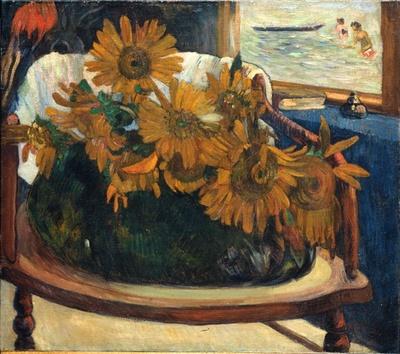 ポール・ゴーギャン「肘掛け椅子のひまわり」 1901年 油彩、カンヴァス E.G. ビュールレ・コレクション財団