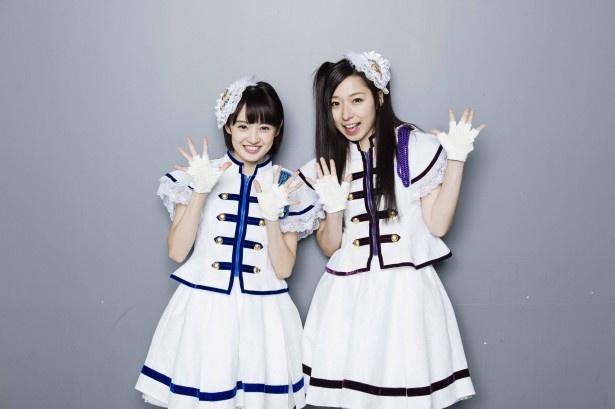 インタビューに応じた咲良菜緒(左)、大黒柚姫(右)