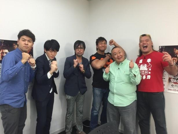 「龍が如く6 命の詩。」に出演している新日本プロレスの天山広吉選手、小島聡選手本人が実際にゲームをプレイする企画も!