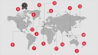 6つの特性から調査し作成された本ランキング。あなたに合った都市はどこだろうか