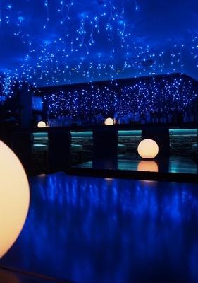 【写真を見る】冬の夜をイメージした幻想的なイルミネーション