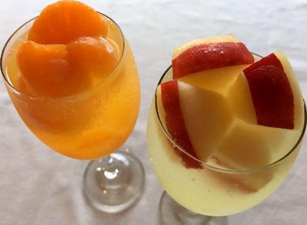 「凍らせフルーツカクテル」に冬限定のりんごとみかんが登場