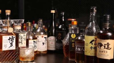 国産ウイスキーも豊富に取り揃えらえている