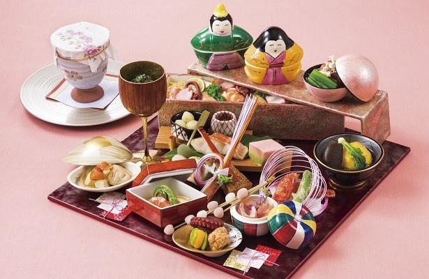 日本料理「旬彩」の「ひなまつり御膳」(3800円)